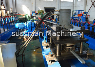 China Strut C Channel Roll Forming Machine Hydraulic Punching With 16 Roller Stations supplier