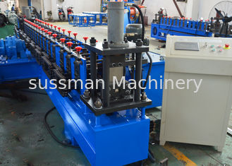 China 41 * 21 mm C Channel Roll Forming Machine Steel Slotted Strut Channel Machine supplier