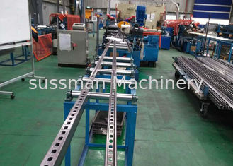 4KW C Slotted 10m/Min Strut Channel Roll Forming Machine With Serration