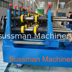 China 100-600mm Width Cable Tray Cold Roll Forming Machine With Punching Press Machine supplier