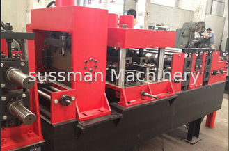 China Customized CZ Purlin Roll Forming Machine Chain Drive For Metal Profiles supplier