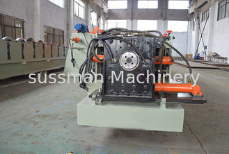 China Customized Half Square Gutter Roll Forming Machine  Fully Automatic Control By Panasonic PLC supplier
