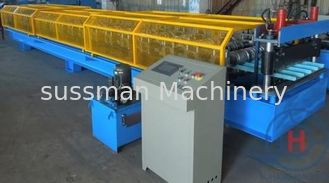 China 0.25 - 0.6mm Roof Tile / Roof Panel RollFormer Machine With Hydraulic Cutting 4Kw supplier