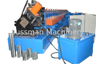 China Chain Drive Galvanized Steel Plate Rolling Machine 8 Tons For Storage Rack supplier
