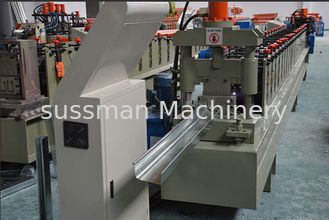 China 10 Steps Portable Vally Gutter Roll Forming Machine Rolling Speed 10-15m/min supplier