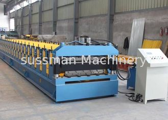 China 5mm thickness 8-12 m/min double layer roll forming machine 12 Mpa supplier