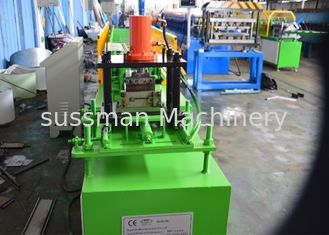 7.5 Kw Shutter Door Roll Forming Machine , Metal Forming Machinery 12 Stations