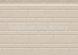 China 38 Kg / M3 Embossed Exterior PU Sandwich Wall Panel Thermal Insulation 380mm supplier