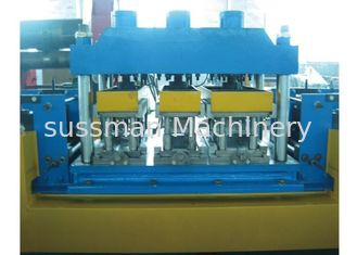 China 20 Steps Door Frame Roll Forming Machine , Cold Roll Forming Equipment With Hydraulic Cutting supplier