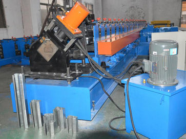 China Blue Rack Roll Forming Machine , Upright Roll Forming Machine Controlled By PLC System supplier