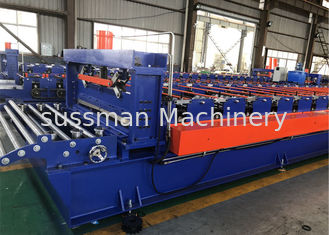 China High Speed 15-20m / Min Trapezoidal Roof Tile Making Machine Thickness 0.4mm -0.7mm supplier