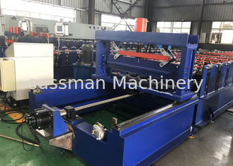 China Durable PPGI Color Steel Metal Roofing Machine With Servo Following Cutting supplier