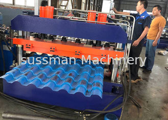 China Building Material Roof Panel Roll Forming Machine , Trapezoidal Profile Sheet Roofing Machine supplier