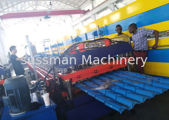 China Roof Panel Full Hard Metal Forming Machine IBR Corrugated Roll Forming Machine supplier