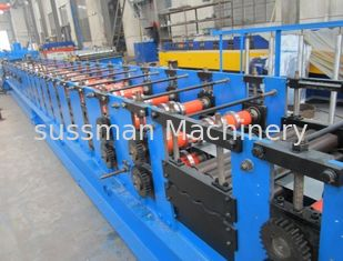 China 10m / Min Speed CZ Purlin Roll Forming Machine With PLC Industrial Computer supplier