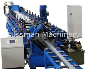 China Chain Drive Z Purlin Making Machine , Purlin Rolling Machine With 20 Roller Stations supplier