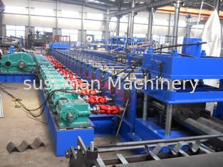 China Blue 5m - 20m / Min Speed Guardrail Roll Forming Machine With 15 Stations supplier