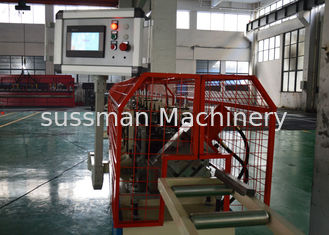 China Top Hat Roof Channel Roll Forming Machine , Metal Rolling Machine With Bottom Embossing supplier