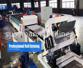 China Steel Silo Metal Roof Roll Forming Machine Gear Box Driven On Line Crimping supplier