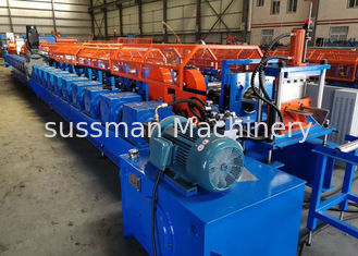 China 22 Rollers Upright Post Roll Forming Machine For Container House Gearbox Transmission supplier