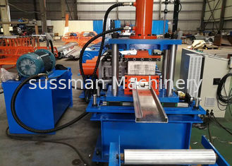 China 15KW Main Power Container House Steel Beam Roll Forming Machine With Stop Cutting supplier