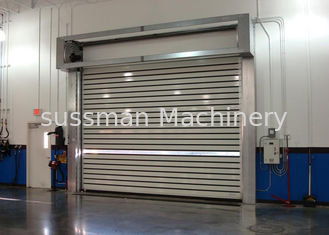 China Turbline Hard Aluminum Roller Shutter Doors High Speed With 32mm Thickness supplier