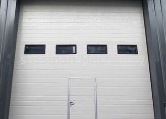 China 50 mm PU Industrial Automatic Steel Sectional Door With Heat Insulated supplier