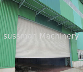 China Sound And Insulated Aluminum PU Roller Shutter Garage Doors With Customized Color supplier