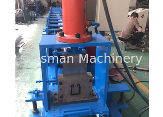 China Post Cutting Shutter Door Roll Forming Machine , Guardrail Forming Machine With 12 Months supplier