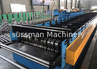 China Building Material Metal Floor Decking Sheet Roll Forming Machine With Embossing Roller supplier