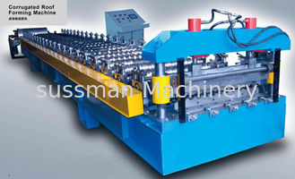China 0.4-0.8Mm Thickness Coils Corrugated Sheet Roll Forming Machine With 12-15m / Min supplier