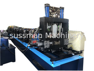 China Gcr15 Roller / Chain Drive PLC Control CZ Purlin Roll Forming Machine supplier
