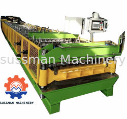 China Galvanized Steel Roof Panel Roll Forming Machine , Profile Sheet Roofing Machine Customized supplier