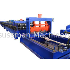 China Metal Deck Floor With Ribs Roll Forming Equipment PLC Control With Touch Screen supplier