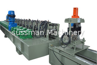 China 16 Stations Chain Drive Vineyard Post Making Machine With Hydraulic Cutting supplier