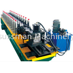 China Hydraulic Cutting Metal Shutter Door Forming Machine 12 Steps 12-15 M / Min Speed supplier