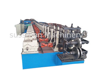 China 1.5mm - 3.0mm Galvanized Steel C Purlin Forming Machine With Gearbox Drive supplier