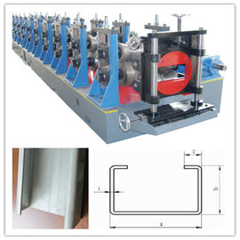 China Hydraulic Punching C Channel Cold Roll Forming Machine 3 Ton Manual Decoiler supplier