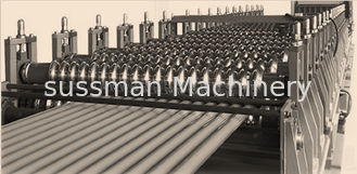 China PLC Control Roof Panel Roll Forming Machine With 0-15m / Min High Speed supplier