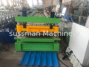 China 18 Stations IBR Sheet And Corrugated Double Roll Forming Machine With 7.5Kw Main Motor supplier