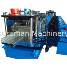 China PLC Control 20 Stations CZ Purlin Roll Forming Machine With 12-15m / Min Speed supplier