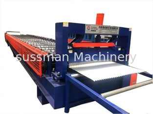 China 0.25mm - 0.8mm Corrugated Roof Panel Roll Forming Machine With Material Width 1220mm supplier