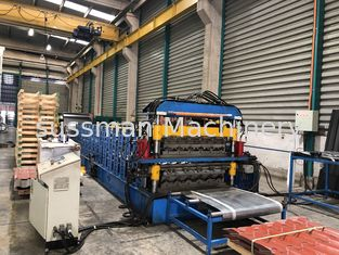 China Multiply Double Layer Glazed Tile Roll Forming Machine With 2 Shapes supplier