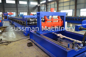 China High Speed 15-30m / Min Roof Panel Roll Forming Machine Thickness 0.8 mm -1.2 mm supplier