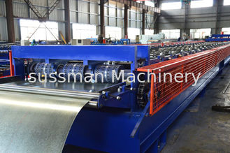 China 28 Rollers Galvanized Steel Deck Roll Forming Machine For Building Construction supplier