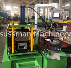 China Chain Driving Downspout Roll Forming Machine Roof Gutter Making Machine 15m / Minute supplier
