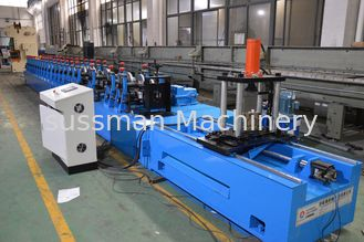 China Galvanized Steel S235JR Rack Roll Forming Machine Chain Driven Multi Language supplier