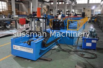 China PLC control Rack Roll Forming Machine with High Speed Punching Press Machine supplier