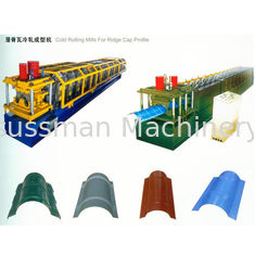 China 16 Roller Stations Round Ridge Cap Roll Forming Machine Thickness 0.3-0.8mm Galvanized Coil supplier