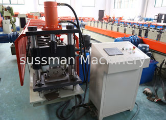 China 1.5mm thickness  Galvanized coil Vineyard post stake roll forming machine with 6 meters auto stacker supplier